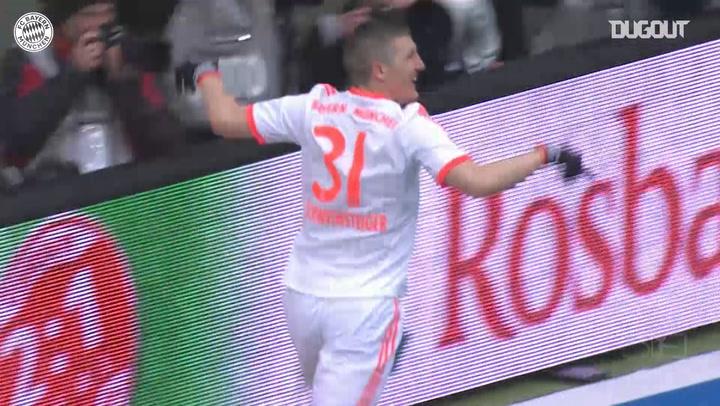 Bastian Schweinsteiger's legendary back-heel finish vs Eintracht Frankfurt