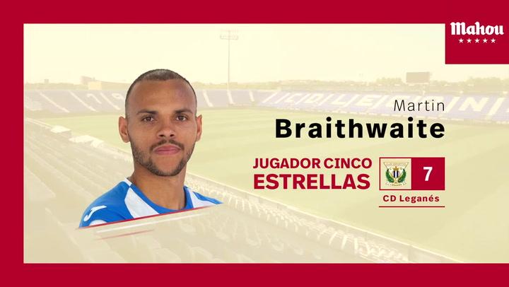 Braithwaite ganó el premio al jugador más destacado del Leganés en enero