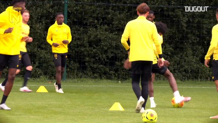 FC Nantes continue training preparations