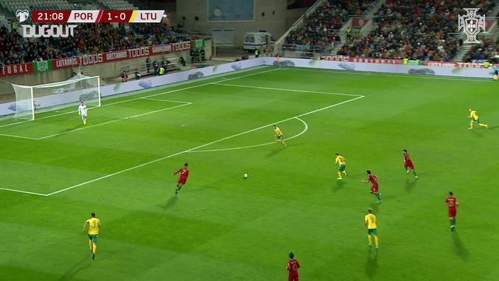 Cristiano Ronaldo's hat-trick vs Lithuania