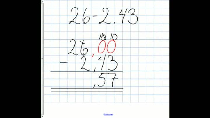 Matte: Hvordan få til subtraksjon av hele tall og desimaltall