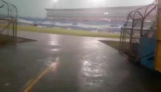 Copiosa lluvia interrumpe entrenamiento de la Sub-23 de Nicaragua