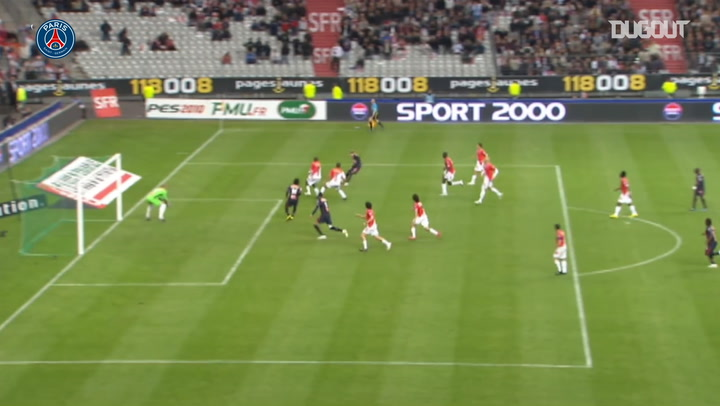 PSG's victory in the French Cup final vs Monaco in 2010
