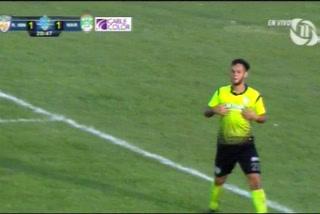 Richard Martínez anota el 2 - 1 de Real de Minas ante el Marathón