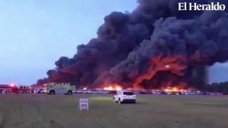 Incendio en aeropuerto de Florida destruye más de 3.500 autos de alquiler