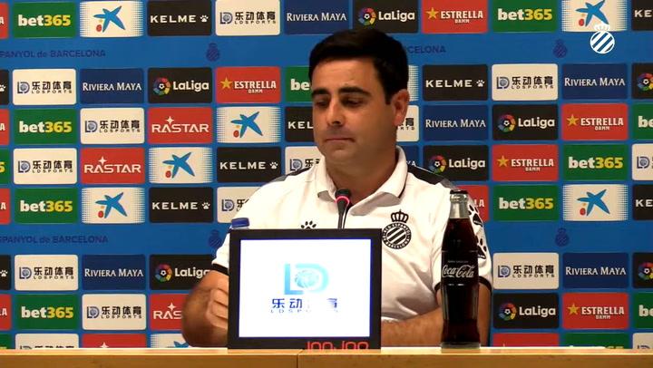 David Gallego comparece en rueda de prensa antes de la Real Sociedad