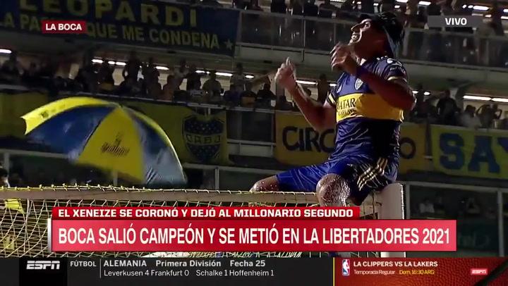 Así deliró Wanchope en La Bombonera con el título de Boca