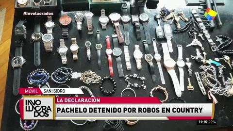 Arrestaron a Nicolás Pachelo por robos en un country