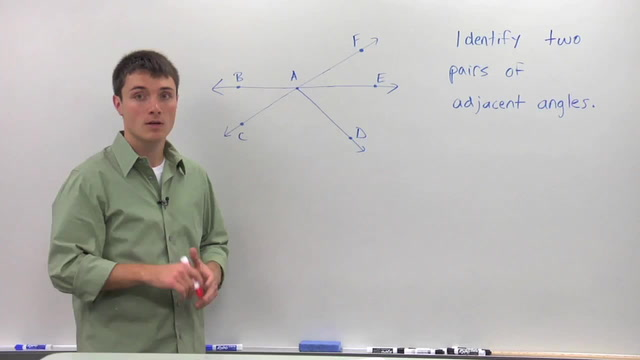 Adjacent Angles - Problem 1