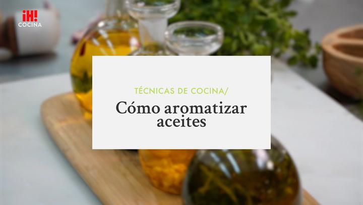 Cómo aromatizar aceites