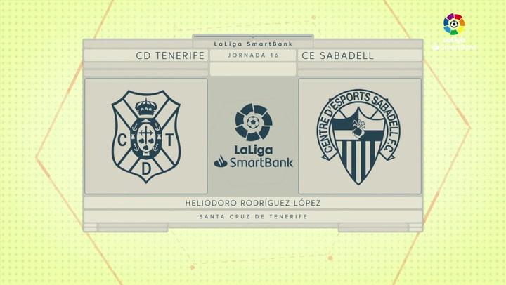 LaLiga Smartbank (Jornada 16): Tenerife 1-2 Sabadell