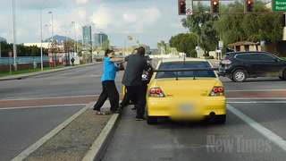 Raw Footage: Road Rage Slap at Mill and Broadway in Temp