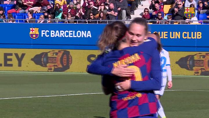 El Barça femenino golea al Deportivo Abanca (6-1)