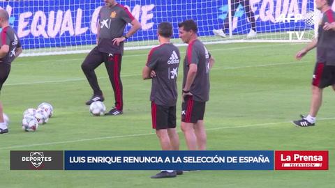 Luis Enrique renuncia a la selección de España