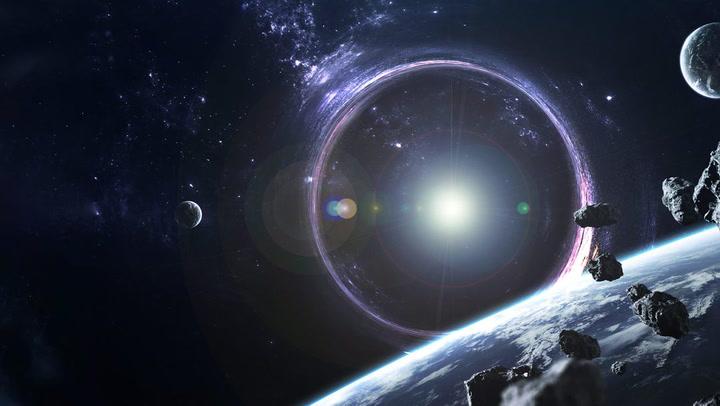 black holes                   emiting light