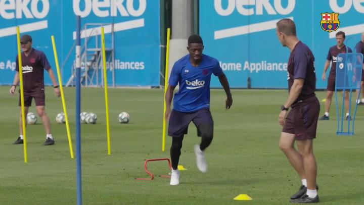 Valverde llama a Araújo ante la lesión de Umtiti y Dembélé avanza