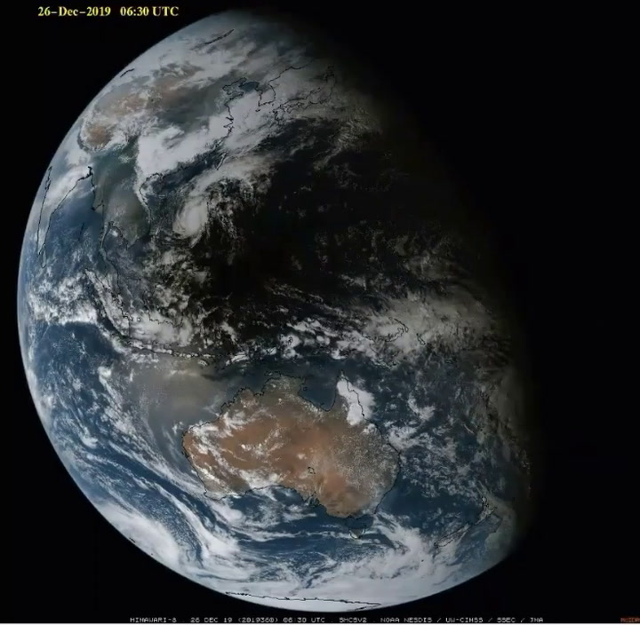 Annular Solar Eclipse Shadow Seen From Space