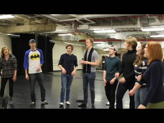 Spoon River cast rehearses before departing for France