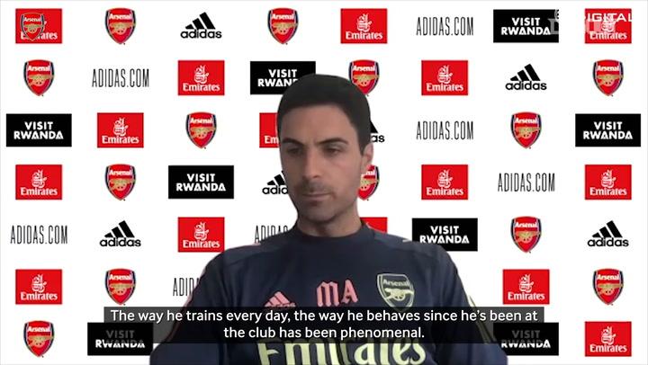 Arteta praises Emi Martinez's impact for Arsenal