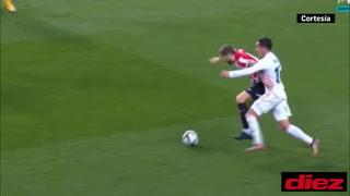 ¡Ya no es súper Lucas Vázquez! Se dejó comer la espalda, comete penal y Athletic factura en la Supercopa
