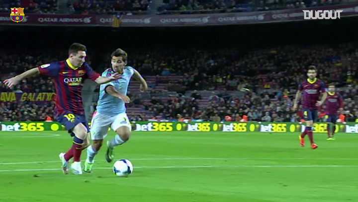 Andrés Iniesta Brilliant Assist For Leo Messi vs Celta