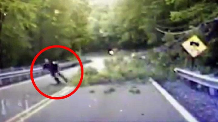 Politimann måtte løpe for livet