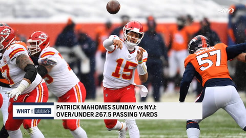 What are the odds on Patrick Mahomes passing yards against the Jets?