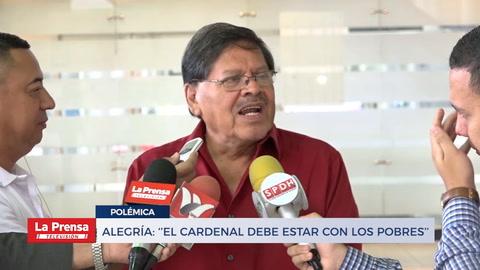 Alegría: ''El cardenal debe estar con los pobres''