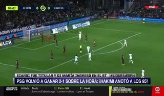 PSG, sin Messi, vuelve a sufrir para ganar 'in extremis ' en la Ligue 1 ante el Metz