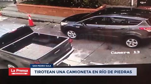 Tirotean una camioneta en Río de Piedras, San Pedro Sula