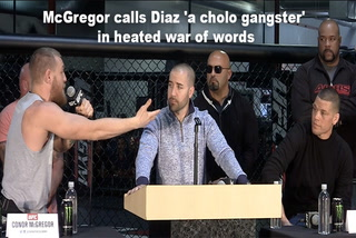 McGregor calls Diaz 'a cholo gangster' in heated war of words