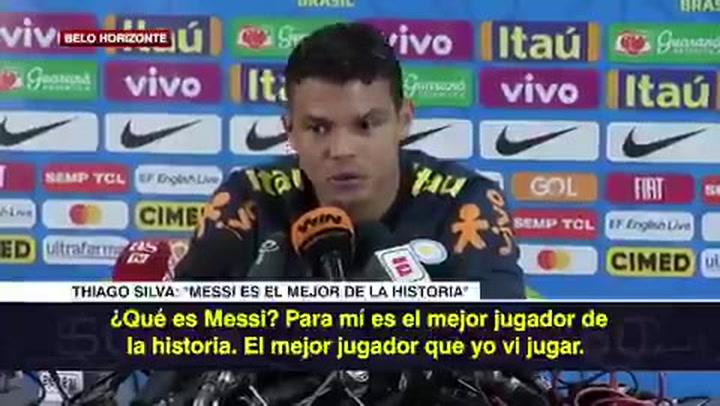 """Thiago Silva: """"Messi es el mejor futbolista que he visto jugar. Por más que lo estudies, nunca vas a entender sus cualidades"""""""