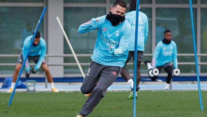 Último entrenamiento del Madrid previo al Clásico