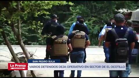 Varios detenidos deja operativo en sector de El Ocotillo, San Pedro Sula