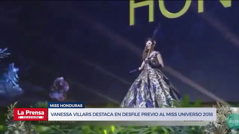 Miss Honduras Vanessa Villars destaca en desfile previo al Miss Universo 2018