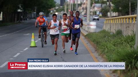 Keniano Elisha Korir ganador de la 43 Maratón Internacional de LA PRENSA