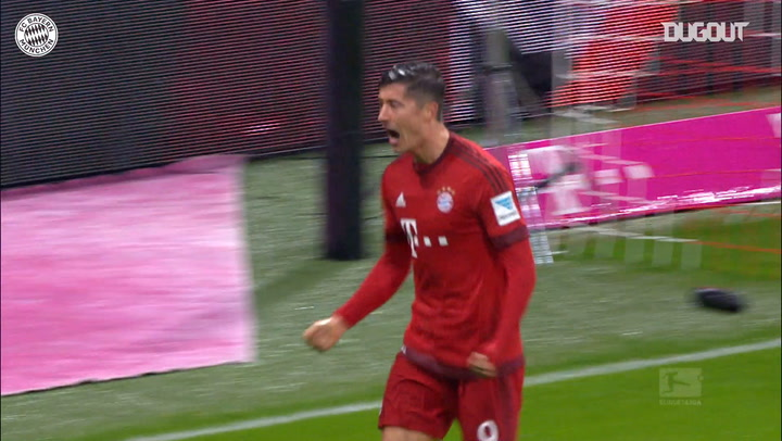 Robert Lewandowski nets twice against Hoffenheim
