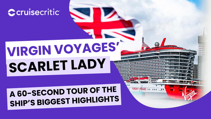 60 Second Video Tour of Virgin's Scarlet Lady