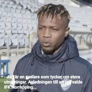 Kevin Álvarez habla como nuevo jugado del IFK Norrköping de Suecia