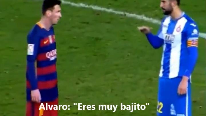 Álvaro González le dice a Messi: