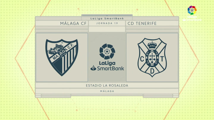 LaLiga Smartbnak (J19): Resumen y goles del Málaga 2-0 Tenerife J19