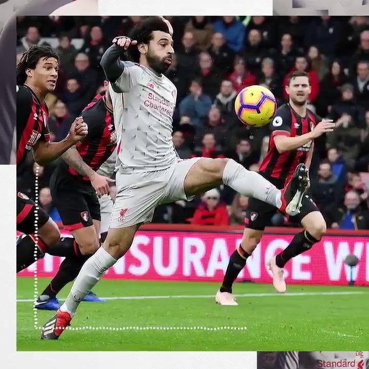 Salah hat-trick sends LFC top of the league