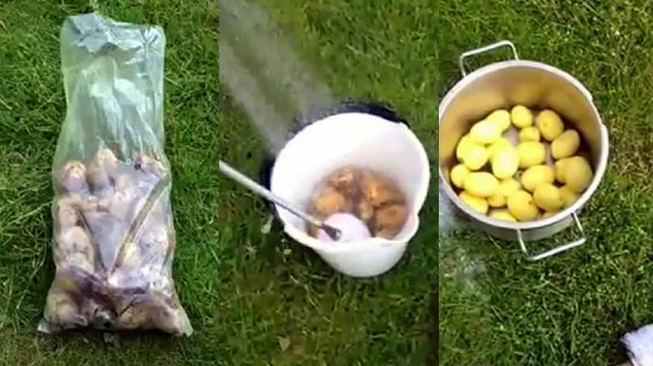 Genialt triks: Slik skreller du én kilo poteter på et blunk