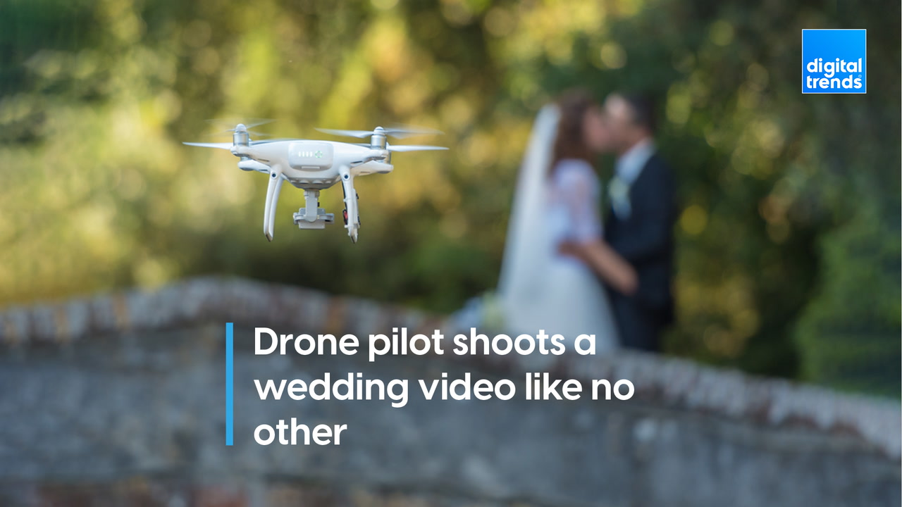FPV drone pilot shoots a wedding video like no other