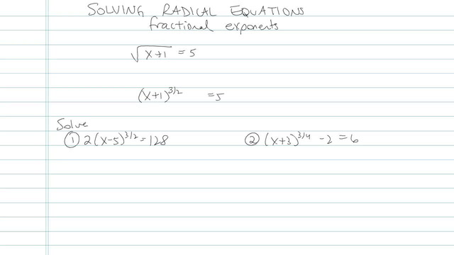 Solving an Equation with Radicals - Problem 5