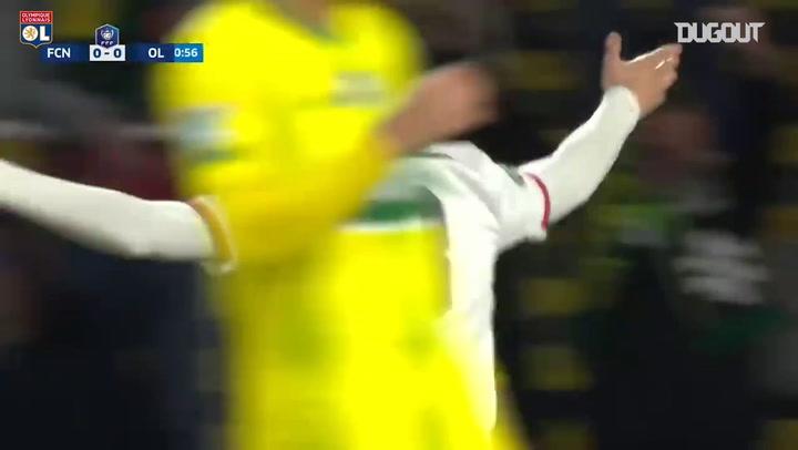 El doblete de Rayan Cherki ante el FC Nantes en la Coupe
