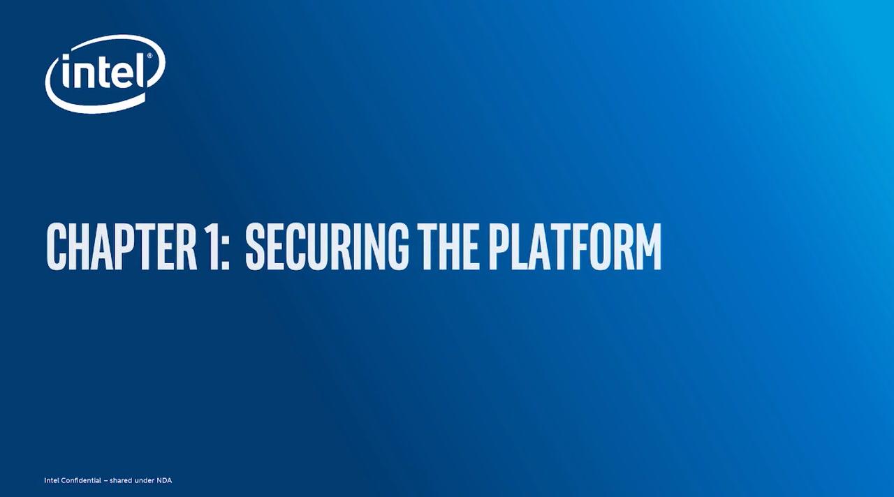 Chapter 1: Secure the Platform