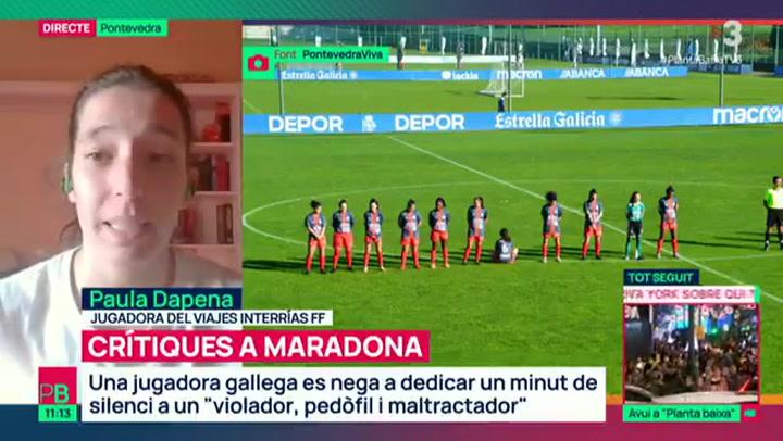 La futbolista que se negó a hacer el minuto de silencio por Maradona explica sus motivos
