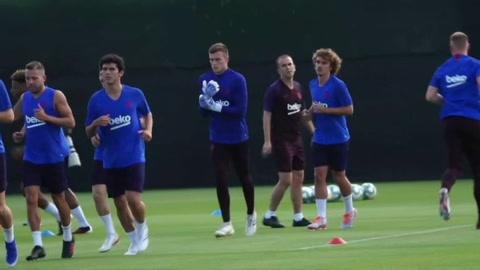 Griezmann se entrena con el Barcelona tras su fichaje