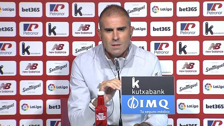 Rueda de prensa de Gaizka Garitano, previa al Deportivo Alavés-Athletic Club